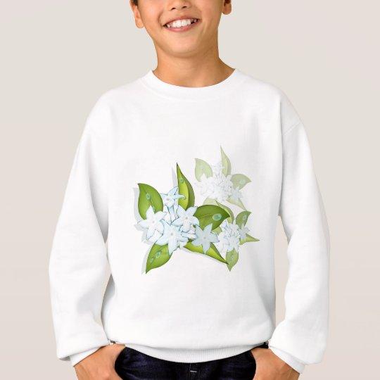 Hand drawn Jasmine Flowers Sweatshirt