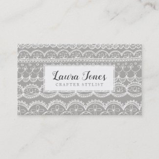 Hand Drawn Lace Crafters Bloggers Publicity Appointment Card