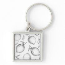 Hand drawn Lemon pattern Keychain