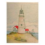 Hand Drawn Lighthouse Custom Letterhead