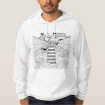 Hand Drawn Lighthouse Doodle Hoodie