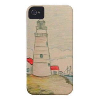 Hand Drawn Lighthouse iPhone 4 Covers