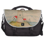 Hand Drawn Lighthouse Laptop Bags