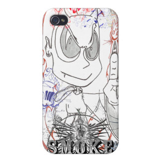Hand Drawn Little Devils Covers For iPhone 4