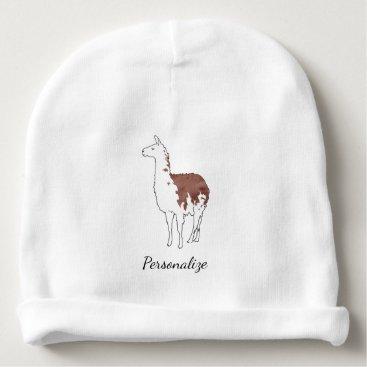PandaCatGallery Hand Drawn Llama Baby Beanie