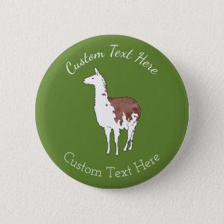 Hand Drawn Llama U-Pick Background Color Button