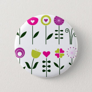 Hand drawn luxury Flowers with Black Button