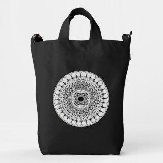 Hand Drawn Mandala Canvas Bag
