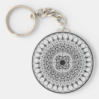 Hand Drawn Mandala Key Chain
