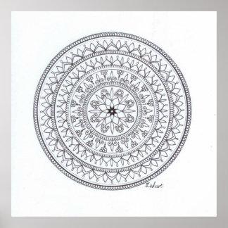 Hand Drawn Mandala Poster