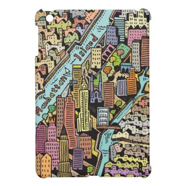 Hand Drawn Map of New York City Case For The iPad Mini
