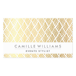 HAND DRAWN modern rustic rough pattern gold foil Business Card