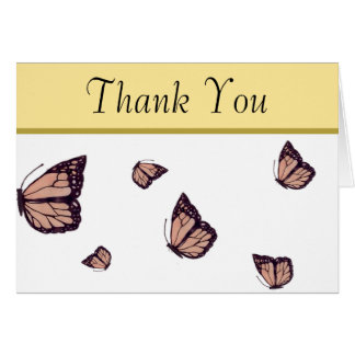 Hand-Drawn Monarch Butterfly Thank You Cards