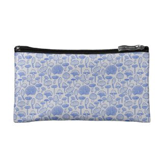 Hand Drawn Mushrooms Collage Cosmetic Bag