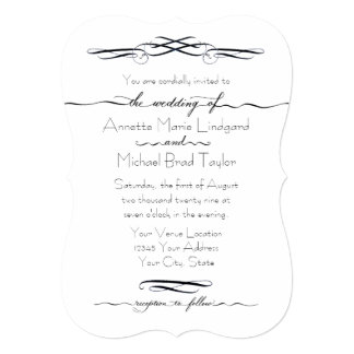 Hand Drawn n Lettered Calligraphy Script n Scrolls Card