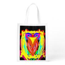 Hand-Drawn Owl Reusable Bag
