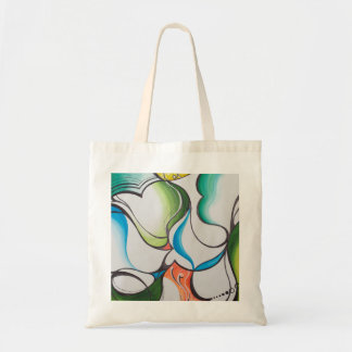 hand drawn painted abstract tote bag budget tote bag