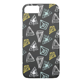 Hand Drawn Pattern with Triangles and Squiggles iPhone 8/7 Case