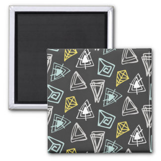 Hand Drawn Pattern with Triangles and Squiggles Magnet