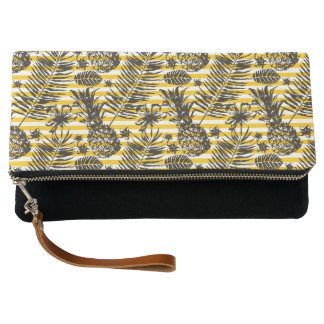 Hand Drawn Pineapples Clutch