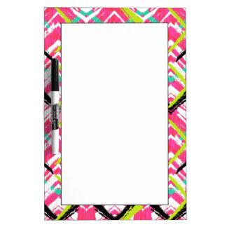 Hand Drawn Pink Zig Zag Pattern Dry-Erase Whiteboard