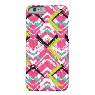 Hand Drawn Pink Zig Zag Pattern iPhone 6 Case