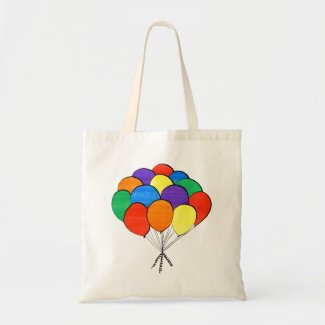 Hand Drawn Rainbow Colored Balloons Tote Bag