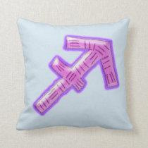 Hand-Drawn Sagittarius Zodiac Sign Throw Pillow
