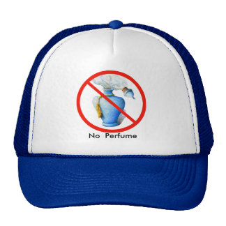 Hand Drawn Sign: No Perfume Trucker Hat