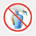 Hand Drawn Sign: No Perfume Sticker