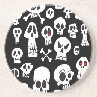 Hand Drawn Skulls Coaster