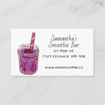 Hand Drawn Smoothie Modern Business Card