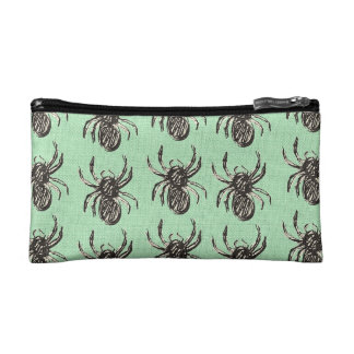 Hand Drawn Spiders Pouch Makeup Bag