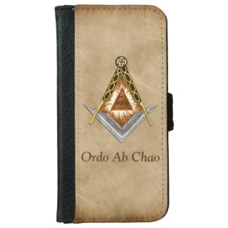 Hand Drawn Square and Compass With All Seeing Eye iPhone 6/6s Wallet Case