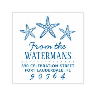 Nautical Starfish 1x1 Wood Mounted Rubber Stamp