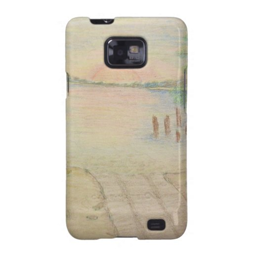 Hand Drawn Sunset Galaxy SII Cases