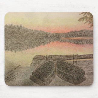 Hand Drawn Sunset Mouse Pad