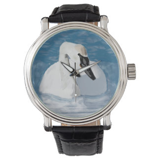 Hand Drawn swan Watches