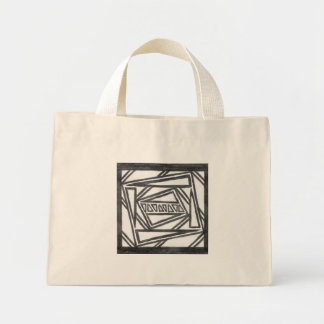Hand Drawn Symmetrical Design Tote Bag