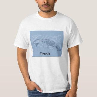 Hand Drawn Titanic Ship T-Shirt