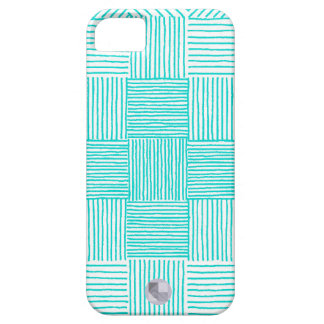 Hand Drawn Turquoise Geometric iPhone 5/5S Case