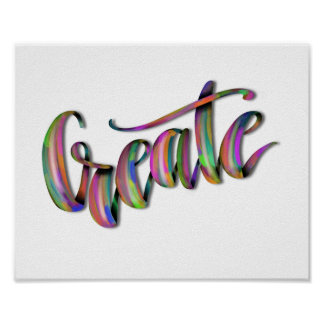 Hand Drawn Typography Lettering Phrase Create Poster