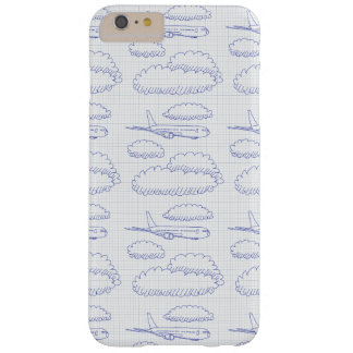Hand-drawn vector drawing of an Airplane Barely There iPhone 6 Plus Case