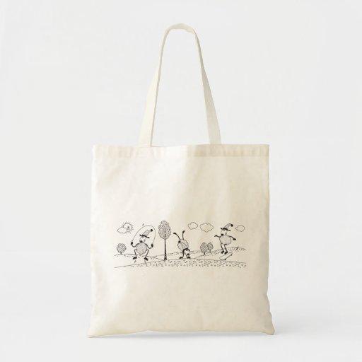 Hand-Drawn Vector Sheep Sports Tote Bag
