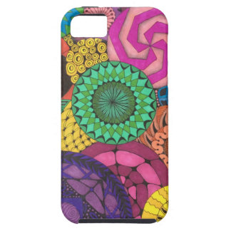 Hand Drawn Vibrant Circles iPhone SE/5/5s Case
