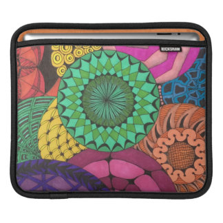 Hand Drawn Vibrant Circles Sleeve For iPads