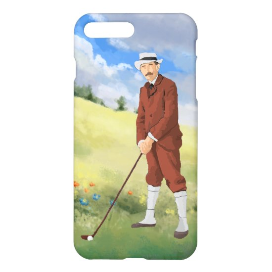 Hand drawn vintage golfer in the rough iPhone 8 plus/7 plus case