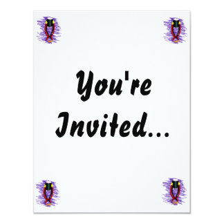 Hand Drum on stand with sticks purple background Card