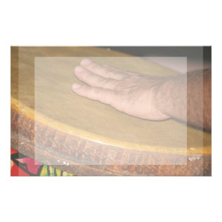 hand drum skin head with hand.jpg stationery