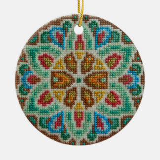Hand embroidered Christmas ornament